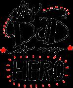 Принт Dad is hero вариант 1