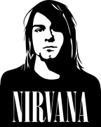 Принт Нирвана Курт вариант 1