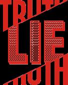 Принт Lie and truth вариант 2