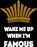 Принт Wake me up вариант 1