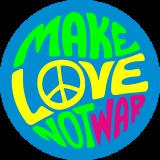 Принт Make love вариант 1
