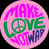 Принт Make love вариант 4