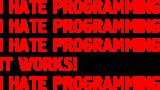 Принт Hate programming вариант 2