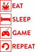 Принт Eat, sleep, game вариант 2