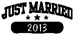 Принт Just married 2013 вариант 1
