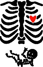 Принт Скелет мама вариант 1