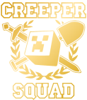 Принт Creeper squad вариант 2