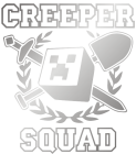 Принт Creeper squad вариант 4