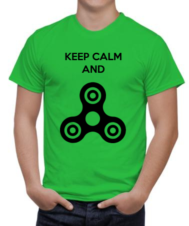Keep calm and spinner