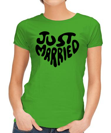 Just married надпись