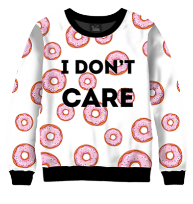 Свитшот I don't care donuts